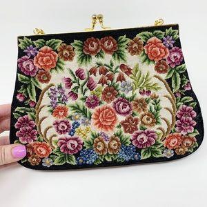 Vintage | Floral Embroidered Clutch Bag Boho